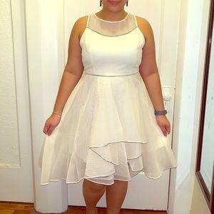 BNWT Halston Heritage Cream Dress size 12